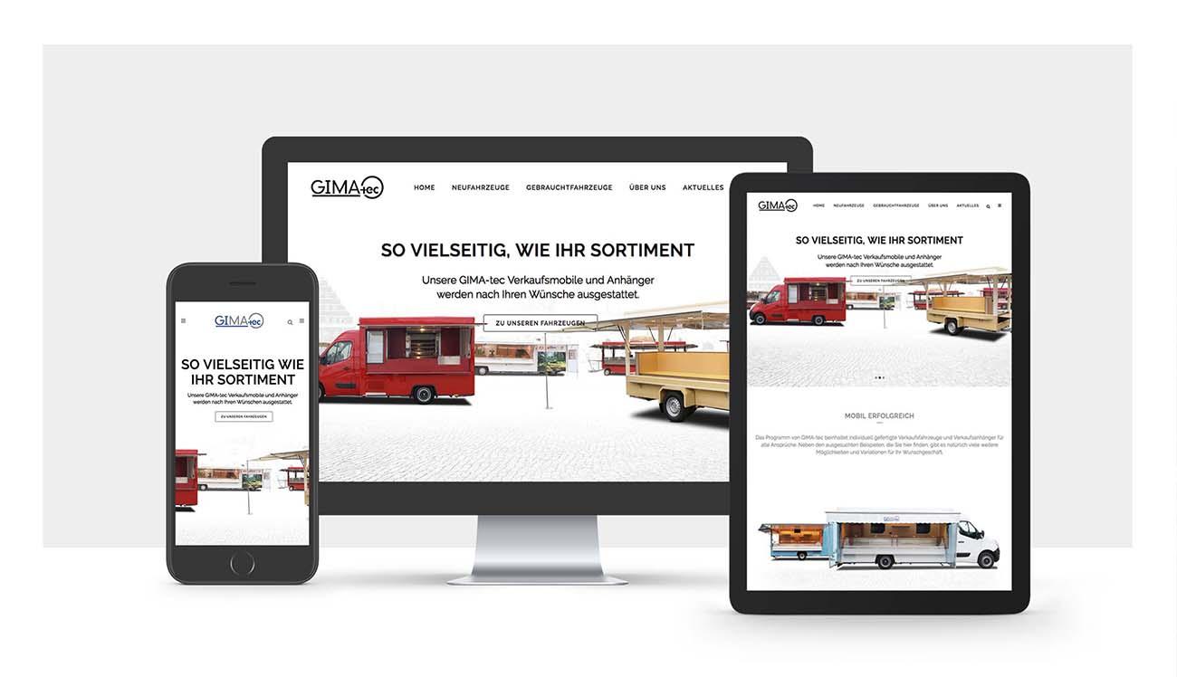 GIMA-tec Webseite