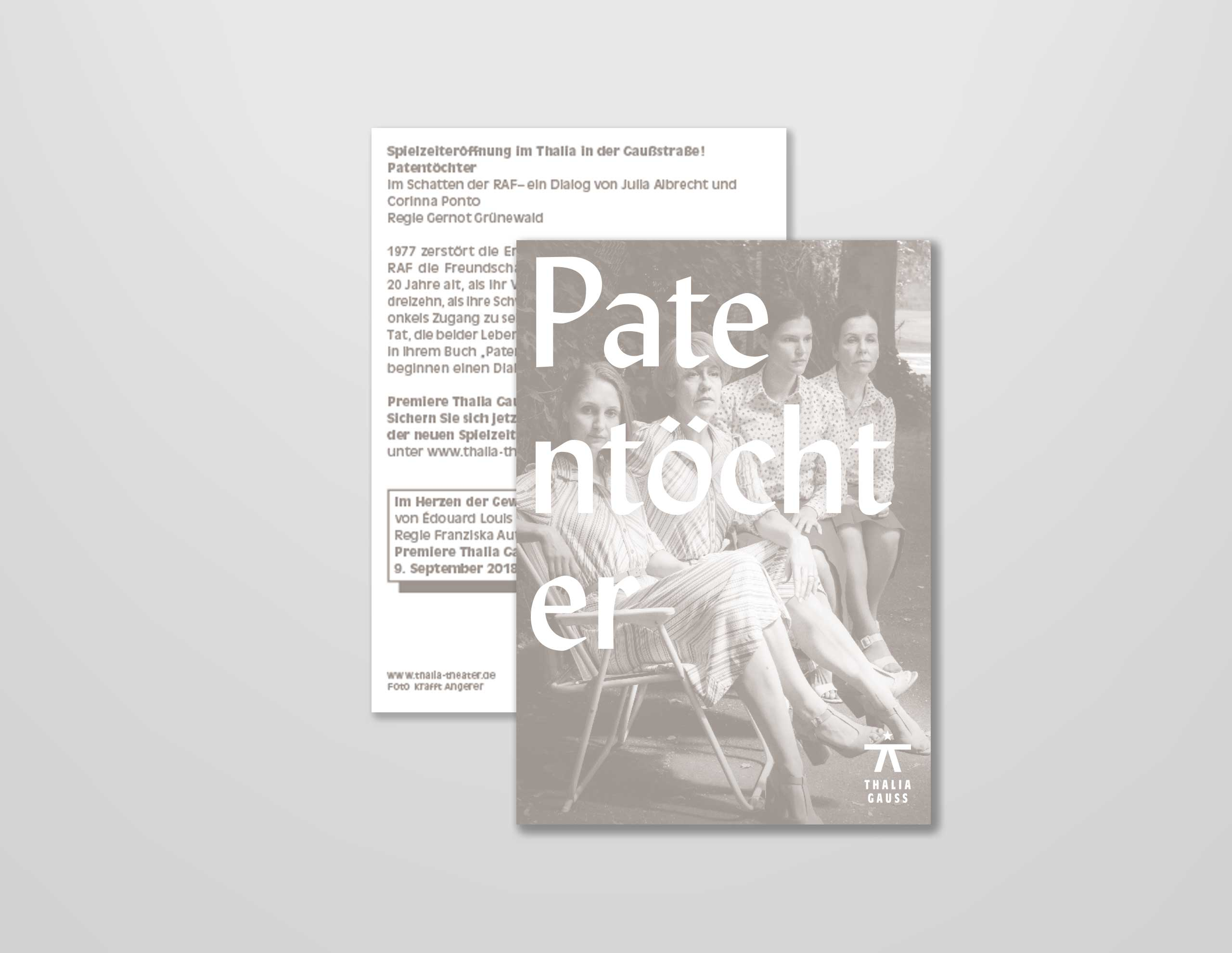 Gestaltung der Flyer / Postkarte Patentöchter.